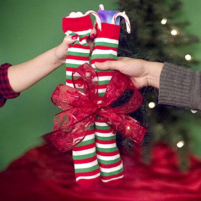 The holiday sock exchange is perfect for families and friends.
