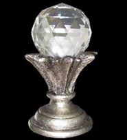 Decorative Crystal Glass Finial