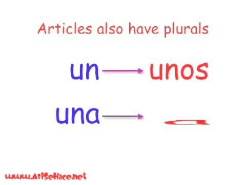 How to make words and articles plural
