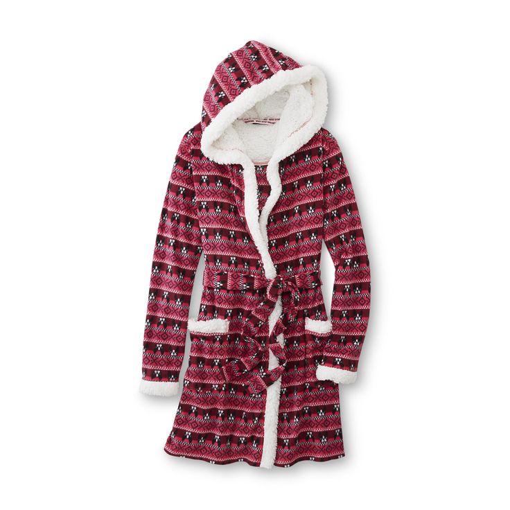 Hooded Fleece Robe   Fashideas.com