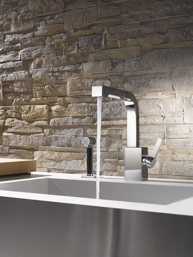 Modern kitchen faucet with hand spray by Dornbracht / Maro Collection