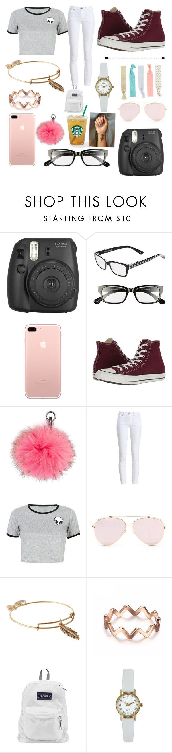 """""""Life as a girl you tuber"""" by alaina05 ❤ liked on Polyvore featuring Fujifilm, Corinne McCormack, Converse, N.Peal, Barbour, WithChic, Alex and Ani, JanSport, Peugeot and Accessorize"""