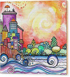Joyful Morning  Wood Print by Robin Mead