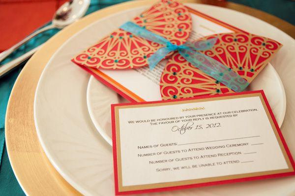 Mehendi designed Invitation card