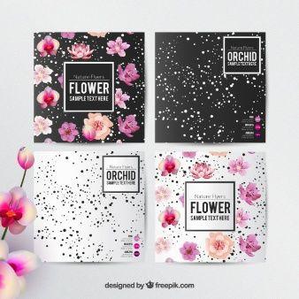 Modelo de panfletos Floral