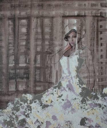 "Saatchi Art Artist Donatella Marraoni; Painting, ""Second thoughts"" #art"