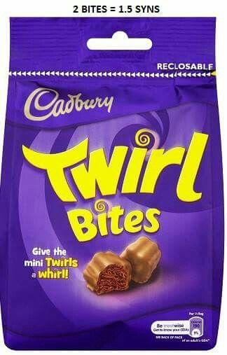 2 Twirl bites = 1.5 syns