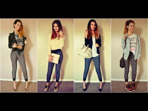 How to Style Jogger Pants   Fashion Lookbook 2014 - YouTube