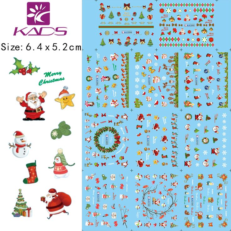 KADS New Christmas with snowman design Series Tips DIY Decoration nail sticker for water sticker for Nail accessories #clothing,#shoes,#jewelry,#women,#men,#hats,#watches,#belts,#fashion,#style