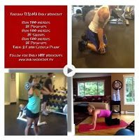 Daily Workout TV Tuesday 17.12.013 Daily #Workout Run 500 meters 35 Push-ups Run 500 meters  35 Squats Run 500 meters 35 Push-ups Then: 2.5 min Crouch Plank Follow us for new #dailyworkouts everyday and new 30 day challenges each month. Check out site or YouTube.com/dailyworkoutTV for HowTo vids. www.dailyworkout.tv #dailyworkout #workouts #fitness #exercise #wod #homeworkout #dailyroutine #crossfit #training #fit #active #site:dailyworkout.site
