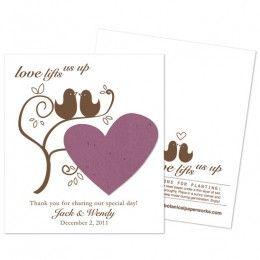 love!!!!: Seeds Wedding Favors, Seeds Paper, Birds Pastel, Birds Plantabl, Plantabl Favors, Plantabl Seeds, Pastel Favors, Favors Cards, Favors Growing