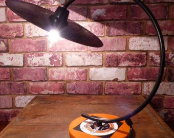 COOL HARLEY DAVIDSON / RECORD LP LAMP I FOUND ON ETSY!!!