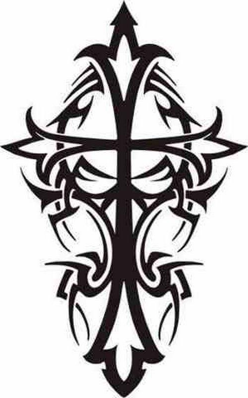 Cool Triball Cross Tattoos Designs Distinctive Tribal Cross Tattoos