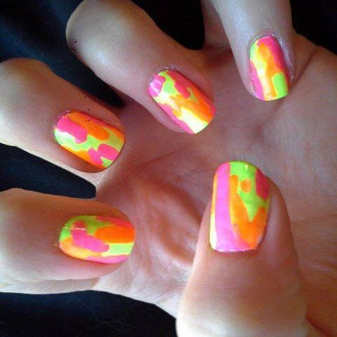 Nail Art... Reminds me of rainbow sherbet