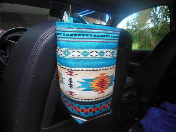 Large bucket Southwestern car trash by teniamariecreations on Etsy
