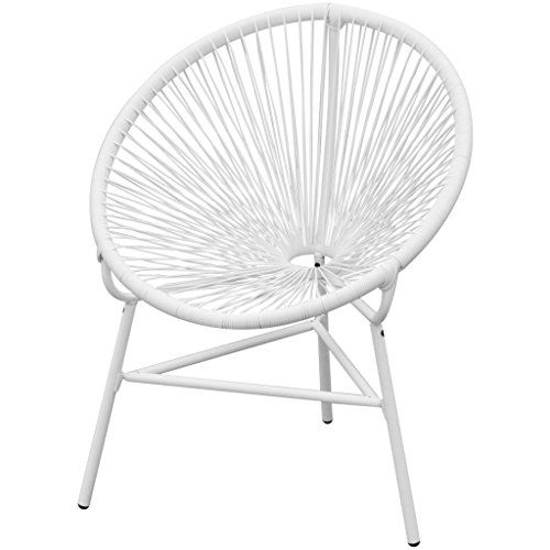vidaXL Poly Rattan Gartenstuhl Stuhl Lounge Sessel Korbsessel Esszimmerstuhl oval Weiß Jetzt bestellen unter: https://moebel.ladendirekt.de/garten/gartenmoebel/loungemoebel-garten/?uid=0e708596-a163-5af4-ae5b-cea37a40de0b&utm_source=pinterest&utm_medium=pin&utm_campaign=boards #loungemoebelgarten #loungesessel #garten #wohnzimmer #sessel #gartenmoebel