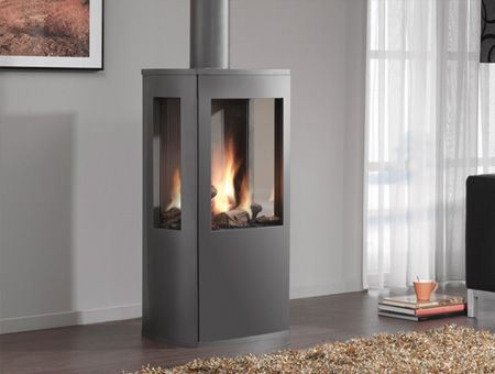 3 Sided Gas Wood Stoves Dru Trio 3 Sided Gas Stove