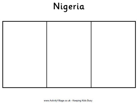 Nigeria Flag Holidays Around The World Pinterest Nigeria Flag Coloring Page