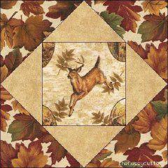 Deer Quilt block ~ nice for a Hunter