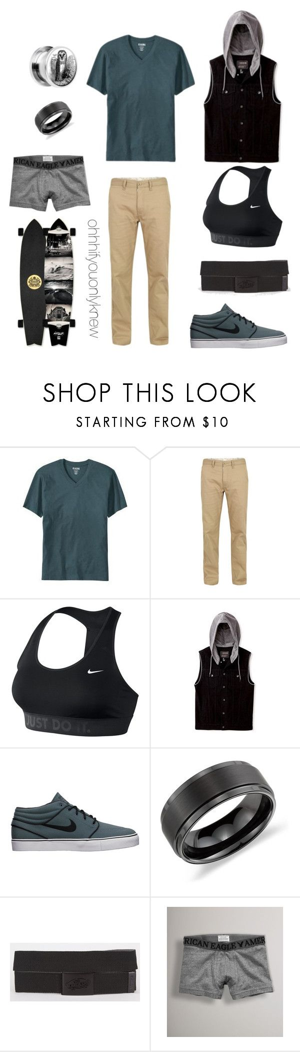 """Untitled #197"" by ohhhifyouonlyknew ❤ liked on Polyvore featuring Old Navy, Billionaire Boys Club, NIKE, 21 Men, Blue Nile, Vans, American Eagle Outfitters, tomboy, lgbt and dyke"