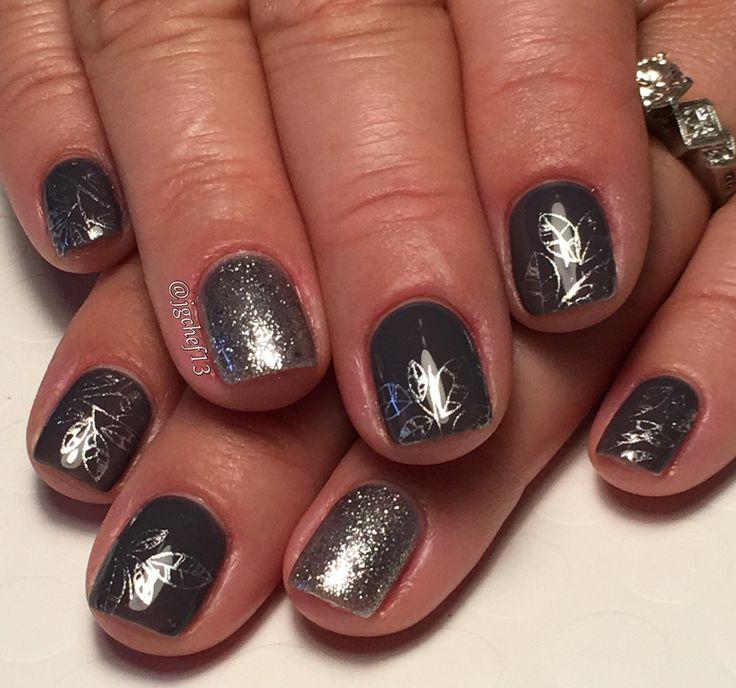My nails right now its opi irre-Greta-bly blue lined by sliver glitter :-)   Nails, My nails