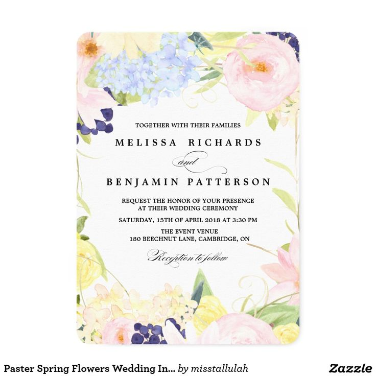 65 best Wedding Stuff images – Spring or Summer Theme Invitation Cards