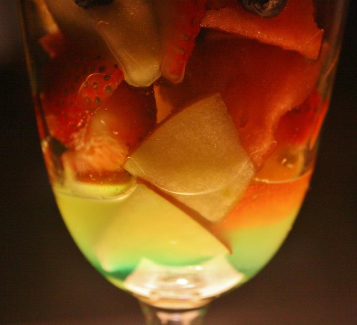 Fruit Salada with Mint Liquor