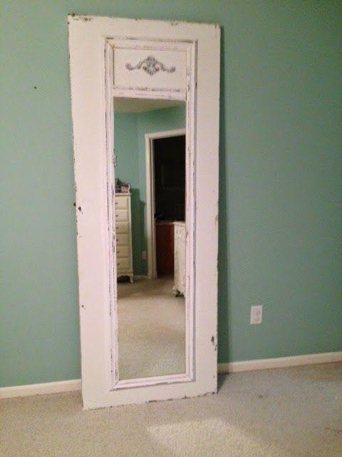 DIY Home Ideas | Turn an old door into a floor length mirror!