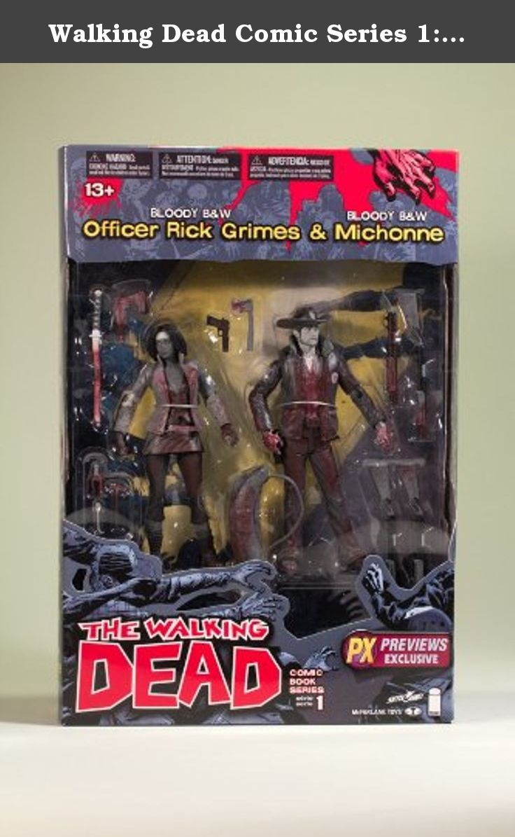 Walking Dead Comic Series 1: Officer Rick Grimes & Michonne Previews Exclusive 2-Pack. With civilization itself tottering after the outbreak of the zombie plague, former police offier Rick Grimes leads a group of survivors in search of shelter and safety as zombie hordes roam the countryside in Robert Kirkmans bestselling comic book, The Walking Dead, from Image Comics. Fans of the series can add this PREVIEWS Exclusive twopack to their collection with Officer Rick Grimes (includes bag of...