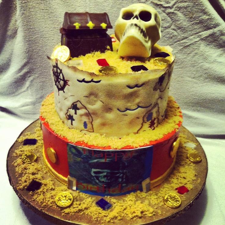 pirates of the carribean birthday cake