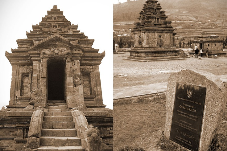The temples on Dieng Plateau are monuments to some of the Javanese exalted Wayang characters namely:  Arjuna, Semar, Srikandi, Puntadewa, Sembadra, Bima, Dwarawati, and Gatotkaca.
