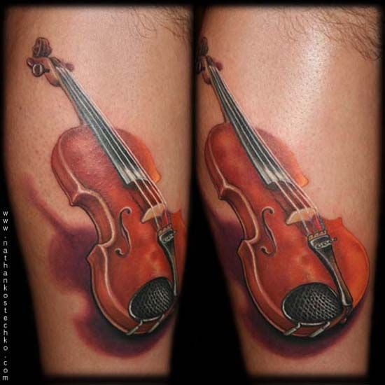 44 Best Violin Tattoo Images On Pinterest