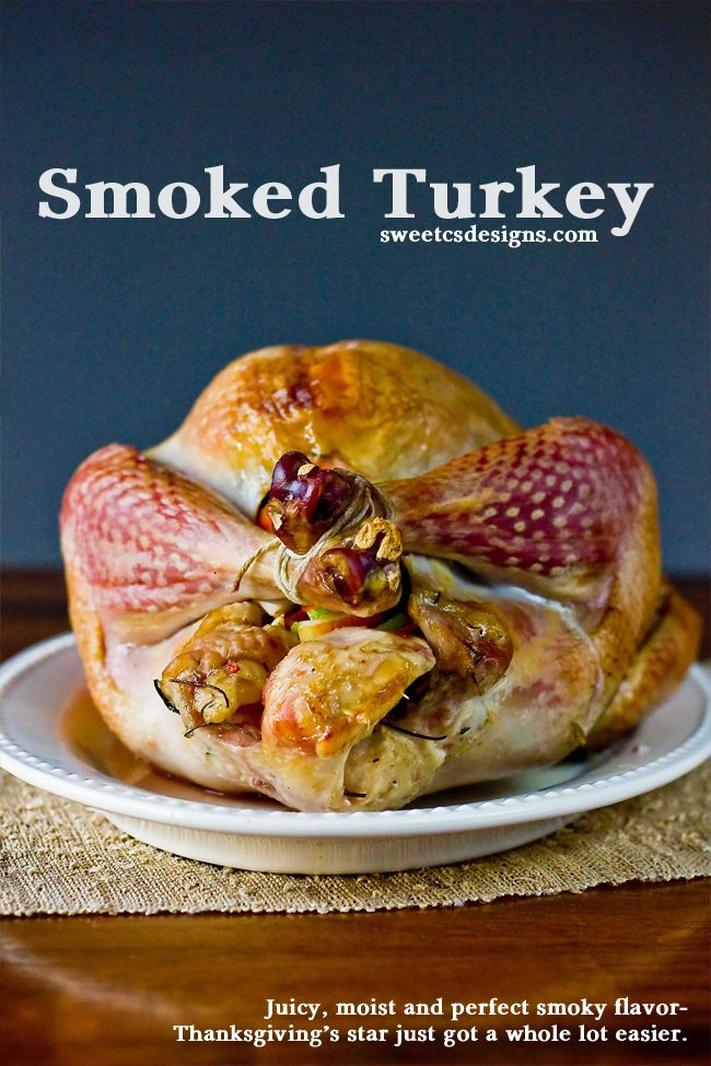 The easiest way to make the perfect, juicy turkey for Thanksgiving- smoke it! This is the best turkey I've ever tasted, and it is so easy!
