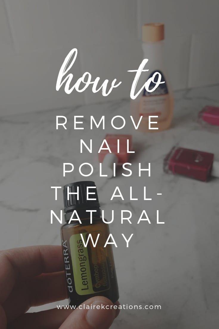 So entfernen Sie Nagellack auf natürliche Weise mit Zitronengrasöl – health/study
