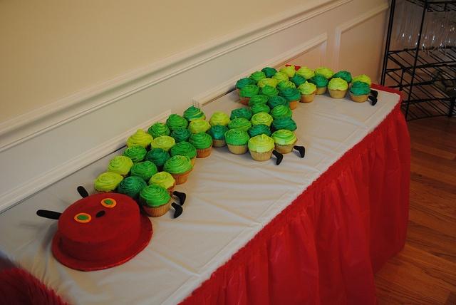 Caterpillar cupcakes and smash cake!