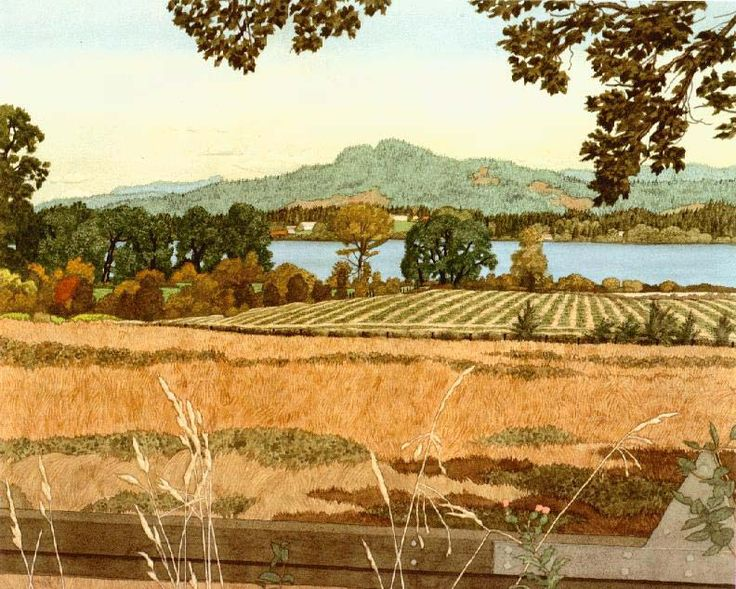 Looking West over Quamichan Lake by E.J. Hughes