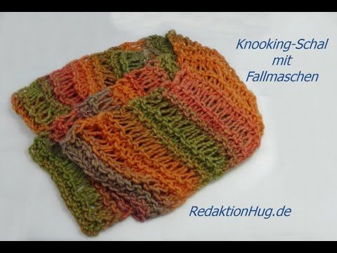 Knooking - Scarf with dropped stitches - Veronika Hug (IN GERMAN - If you are familiar with knooking, you can watch this video to learn this stitch... The video is very good... Deb)
