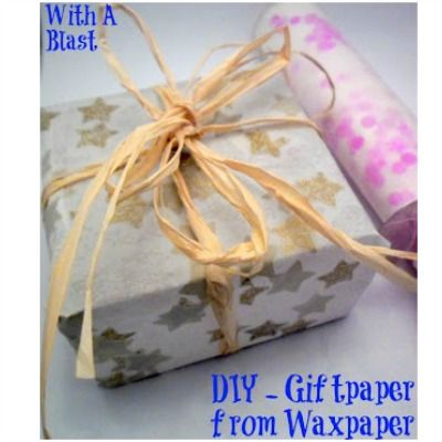DIY GiftWrap from WaxPaper ~ create your own unique wrap easily ! #giftwrap  #crafts