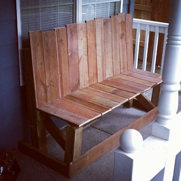 bench from old fence slats