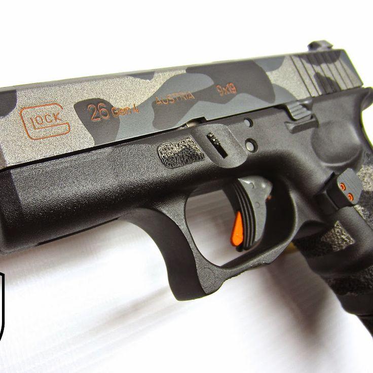 A RookWorx & Rebel Road Custom Glock 26 Rebel Road Custom Cerakote Camo…