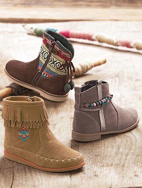 Zapatos negros de invierno casual infantiles DDYji