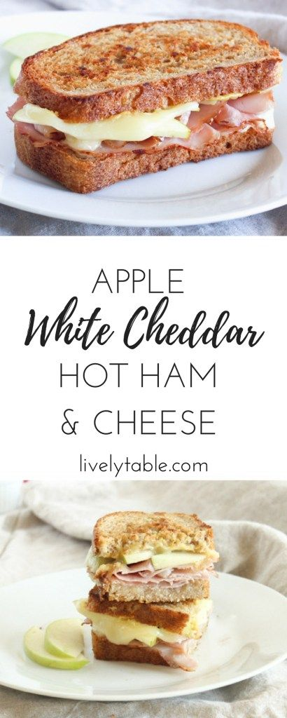 heddar Hot Ham and Cheese | The ham and cheese sandwich gets a delicious upgrade with granny smith apples, white cheddar, and a honey mustard hummus spread. (AD)