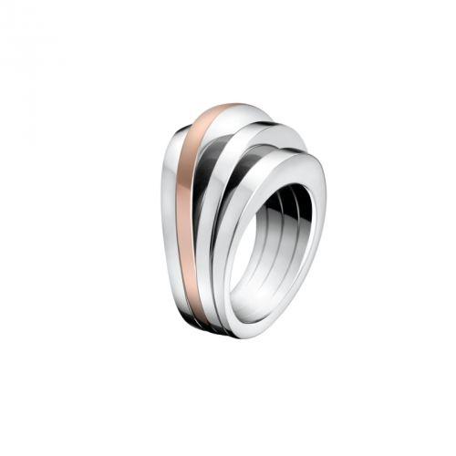 Calvin Klein Bijoux Ring Breathe Zilver/rosé maat 8