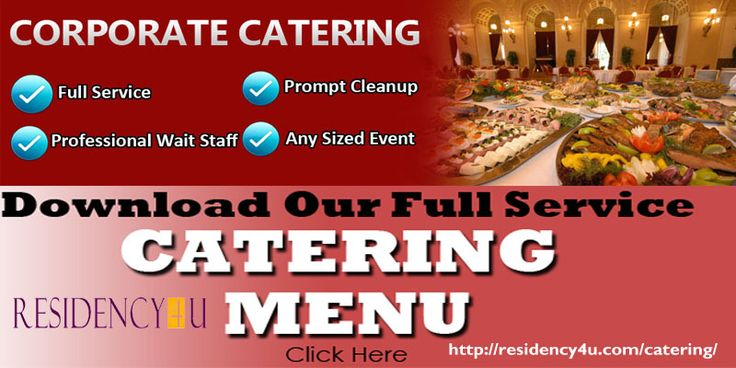 We offer catering, three separate divisions, to satisfy