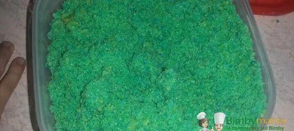 sabbia cinetica per bambini col Bimby