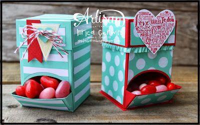 Stampin' Up! Valentine Mini Candy Dispenser