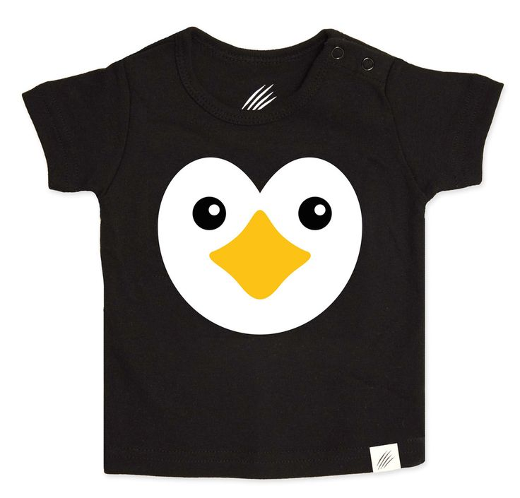 Penguin t-shirt for kids and infants. Available now at www.reallywildchild.com. Really Wild Child. Made for little animals.