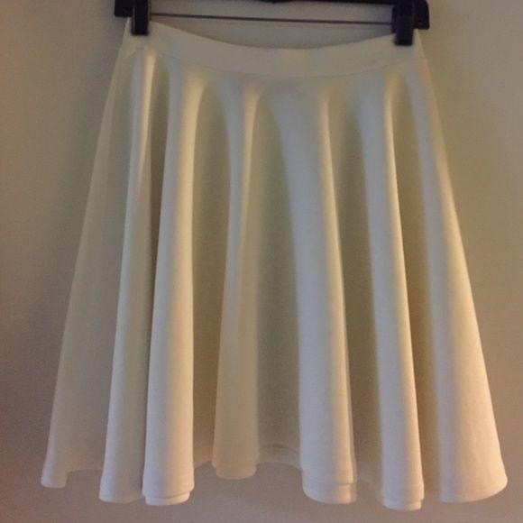 Winter White Skater Skirt Winter White Skater Skirt Skirts Circle & Skater