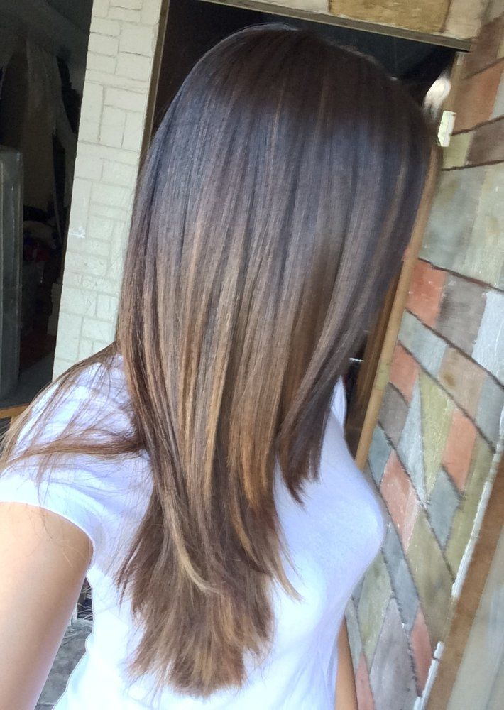 Straight Ombre Balayage