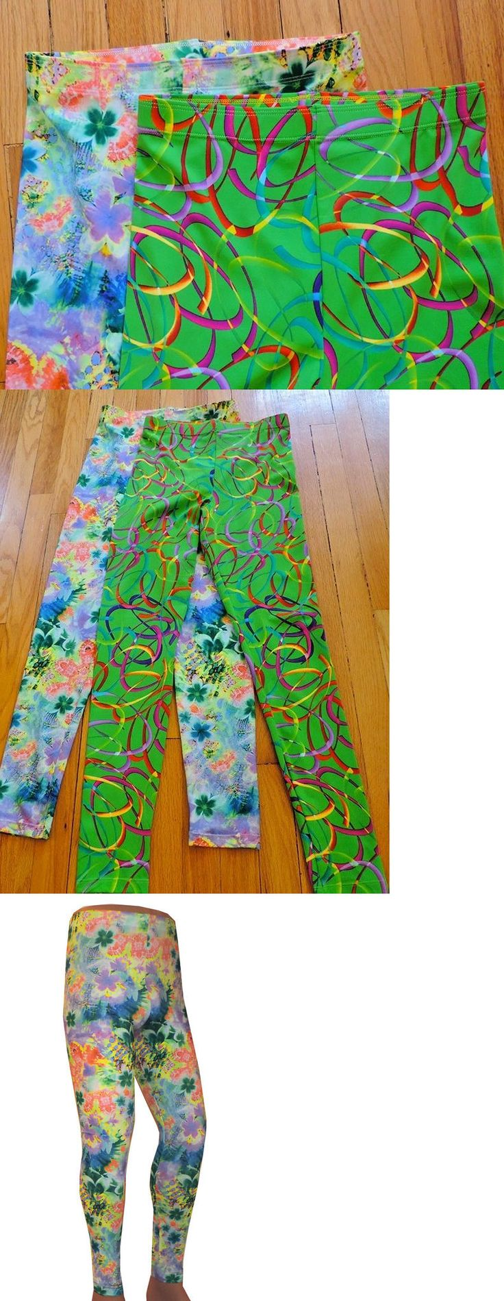 Clothing 79796: Lot 2 Medium Wrestling Tights Abstract Floral Bright Festival Edm Cos Play -> BUY IT NOW ONLY: $40 on eBay!